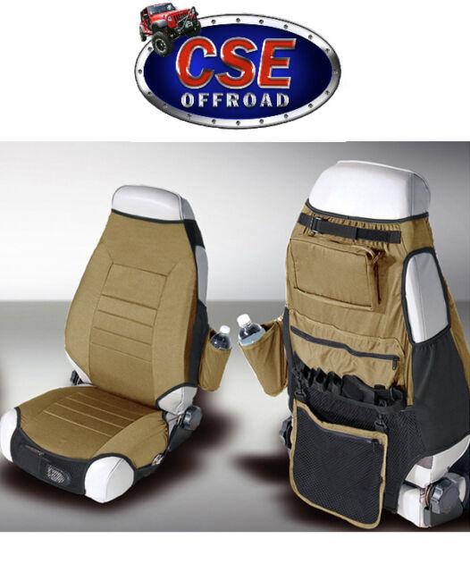 Jeep Front Seat Cover Protectors CJ Wrangler YJ TJ  Spice Rugged Ridge