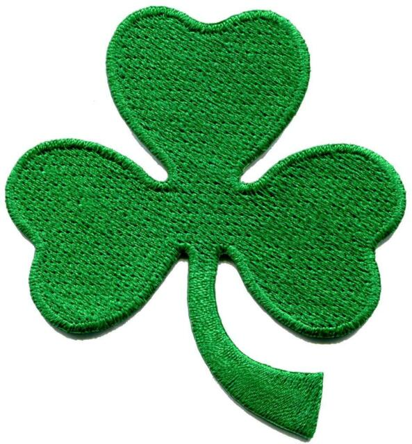 3 leaf clover St. Patrick's day irish shamrock three applique iron-on patch S770