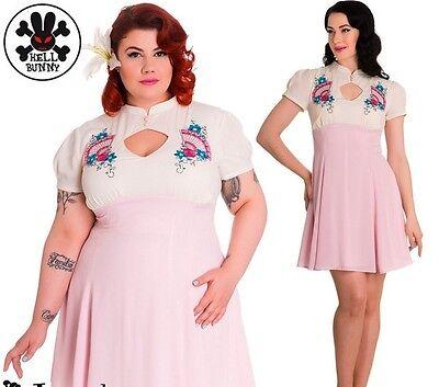 7688792c7f5 Hell Bunny Kyoto Rockabilly Pinup Retro Vintage Dress Sizes XL-4XL Plus Size
