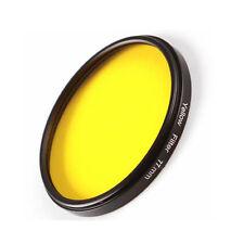 77mm Full Yellow Color Circular Filter for Canon Nikon Sony DSLR Camera Lens M77