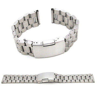 Watch Strap Bracelet STAINLESS STEEL Silver Band Deployment Clasp Speedmaster S4