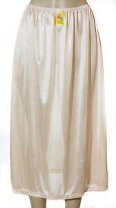 "31"" Length Women Plain Long Half Slip Ladies 100% Polyester S M L XL 2X 3X 995"