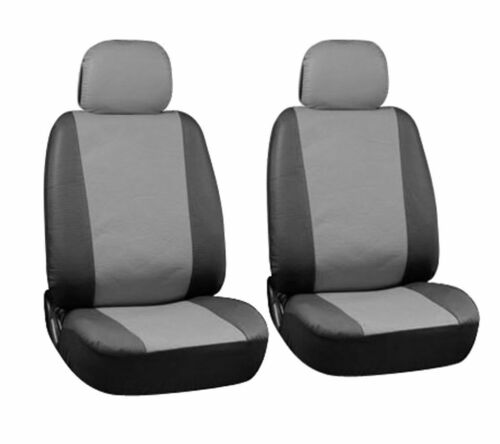 Leather Look CAMBRIDGE Grey//Black FRONT Car Seat Covers CHEVROLET SPARK