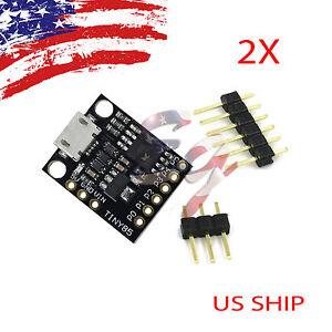 2X-piezas-Digispark-Kickstarter-Attiny-85-Usb-Placa-De-Desarrollo-Para-Arduino