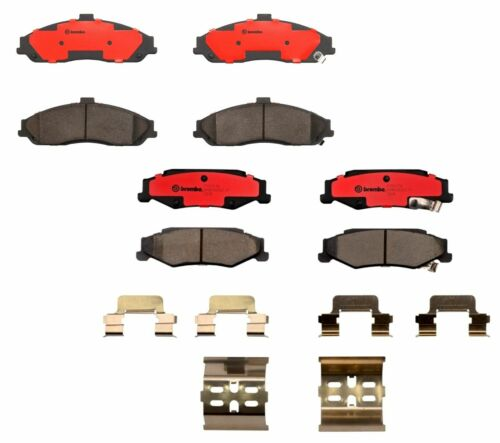 Front /& Rear Brembo Brake Pad Set Kit For Cadillac Chevrolet with RPO J55 /& JL9