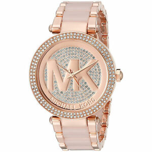 Details about Michael Kors MK6176 Parker Crystal Pave Rose gold Stainless Steel Womens Watch