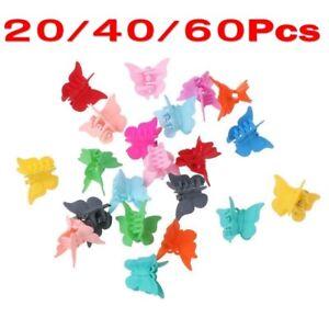 20-60X-Mini-Hair-Claws-Multi-Colors-Hair-Clips-Butterfly-Shape-Hair-Clamps-AU-TY