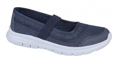 Señoras para mujer Slip On caminar Confort Zapatos deportivos de peso ligero entrenador Flexi ir
