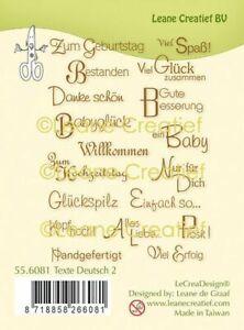 Motiv-stempel Clear stamp Texte Sprüche Spruch Gruß Geburtstag LeCrea 55.6081