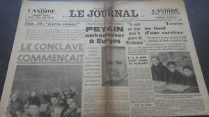 Newspapers The Journal N°16934 Jeudi 2 Mars 1939 ABE