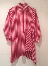 Marques Almeida Gingham Asymmetric Shirt Dress Red BNWT UK8/S