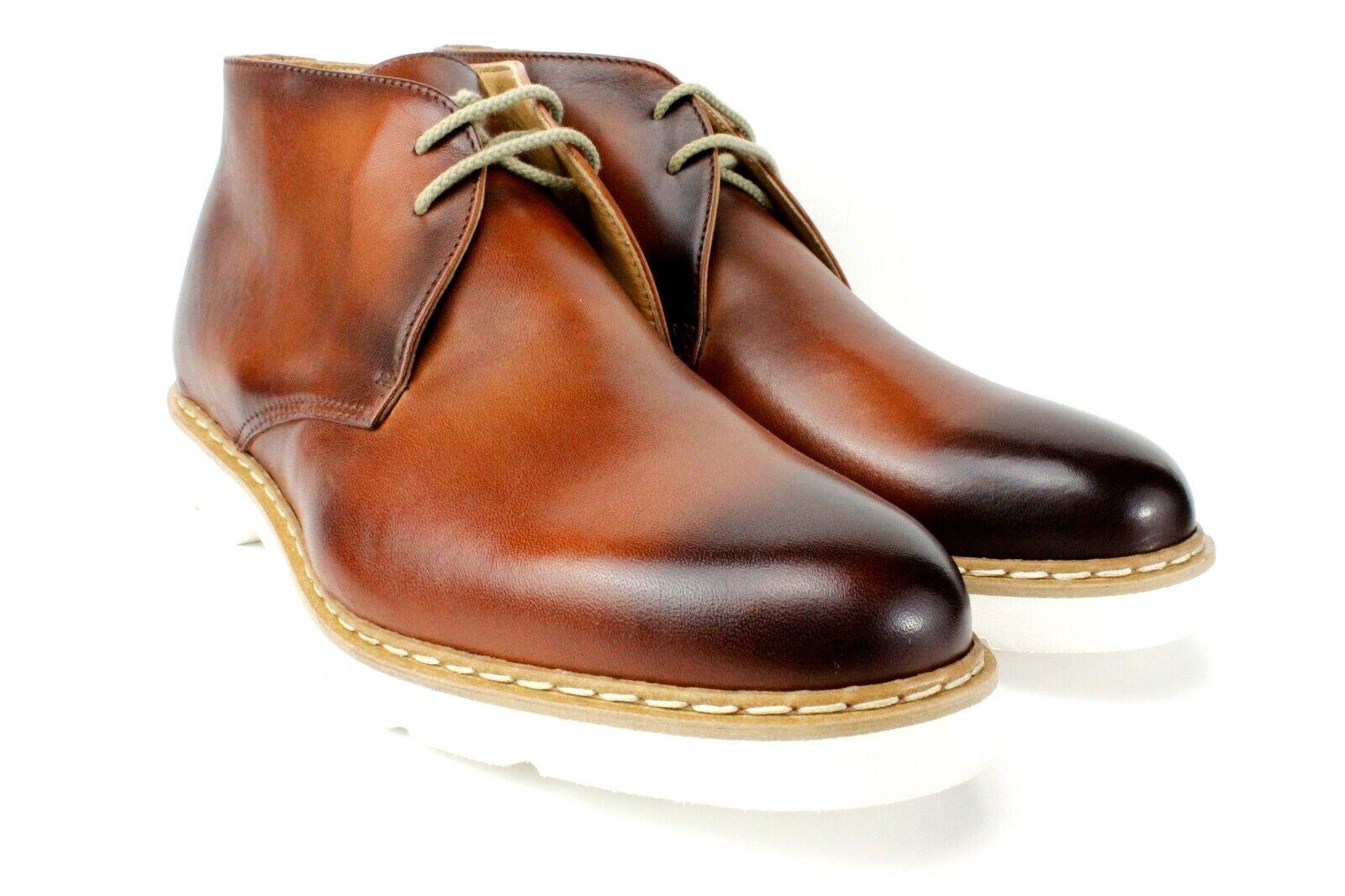 IVAN TROY Anton marrón bota Hecho a Mano Cuero Italiano Vestir para hombres de inicio botas al tobillo