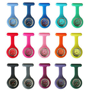 Nurse-Watch-FOB-Silicone-Case-Pocket-Brooch-Pin-Watch-for-Pouch-Bag-Colour-Face