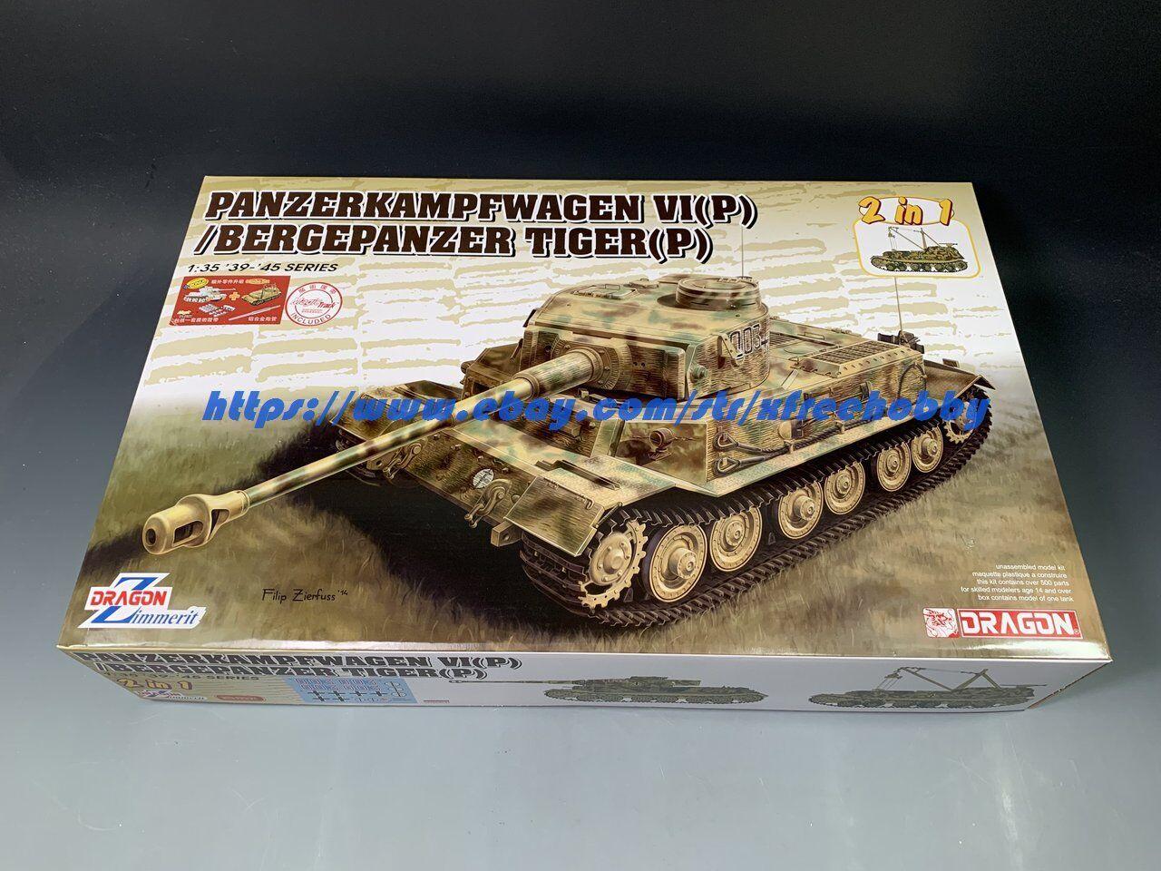 DRAGON 6869 1 35 Panzerkampfwagen VI(P) & Bergepanzer Tiger (P)