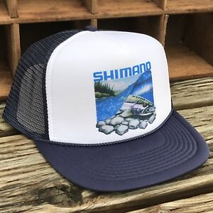 1cf15771 Salmon Steelhead Fishing Trucker Hat Vintage 80's Style Snapback Cap ...