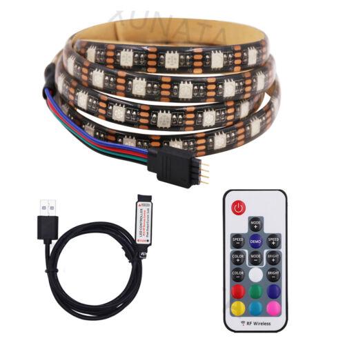 5V 5050 30SMD//m RGB LED Strip Light Bar TV Back Lighting Kit+USB Remote Control