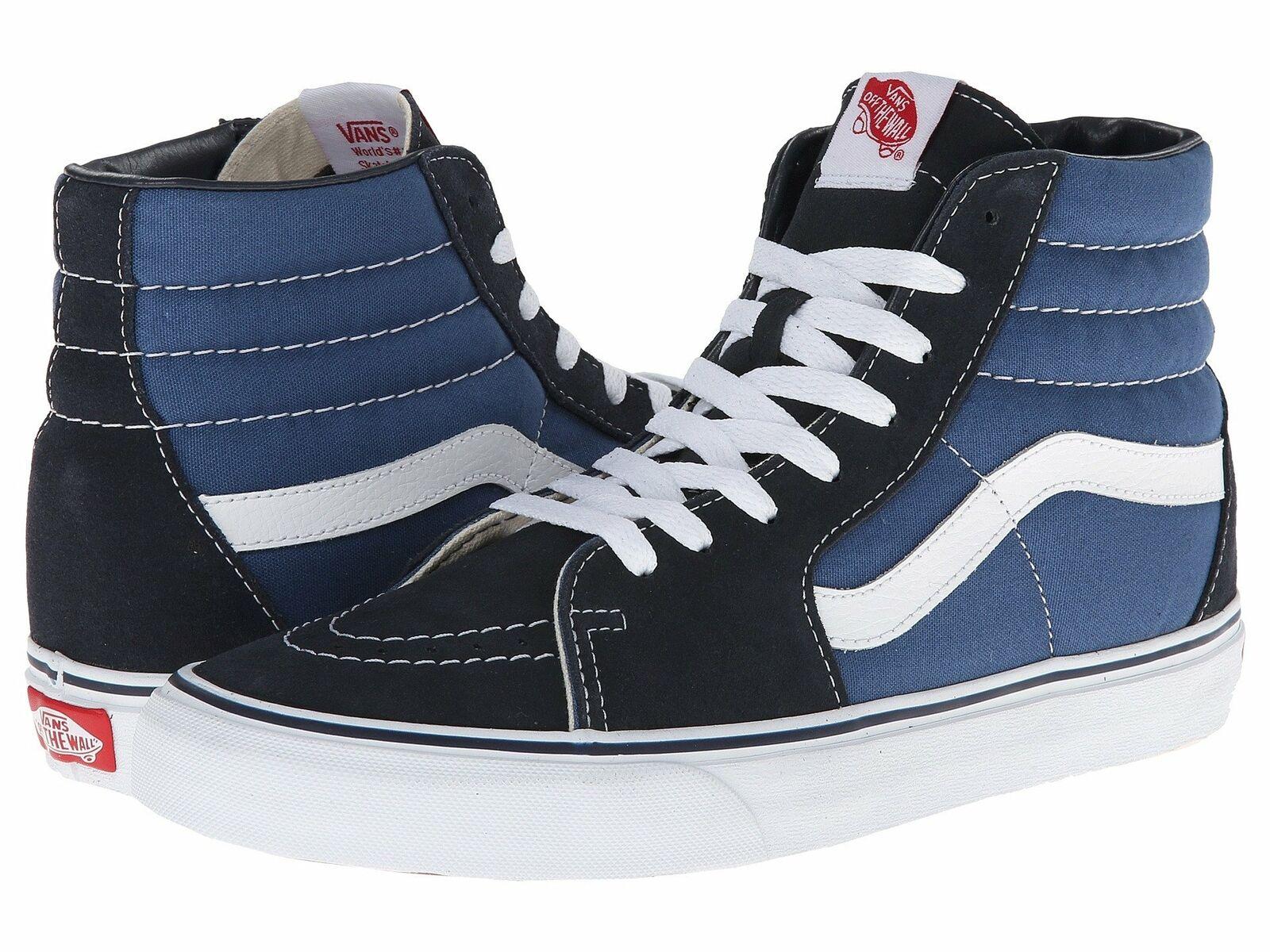 Vans Sk8 Hi Lace Up Sneaker Black Black Navy