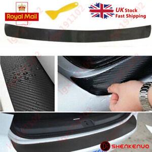 4D-Carbon-Fiber-Car-Rear-Bumper-Protector-Guard-Trim-Cover-Chrome-Sill-Lip-UK