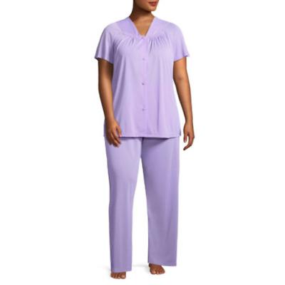 Lissome Polytricot Short Sleeve Pajama Set Plus Size 4X Lavender Shirt /& Pants
