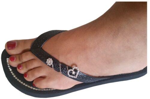 La Plage Chaussures Flops Bride D/'Orteil Superior avec véritable strass affine