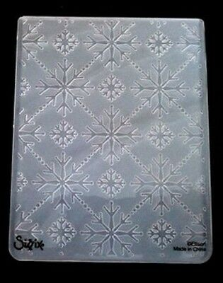 Sizzix Large Embossing Folder CHRISTMAS SNOWFLAKES fits Cuttlebug 4.5x5.75in