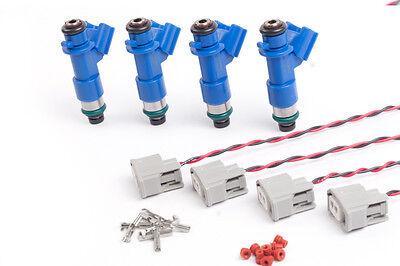 K-Tuned RDX 410cc Fuel Injectors w/ Clips K20 K20a K20a2 K20z1 K20z3 K24a2 K24