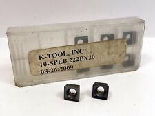 K Tool Speb 222 New Carbide Inserts Grade Px20 8pcs