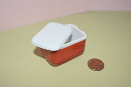 Red in 1:12 doll scale Miniature Cooler