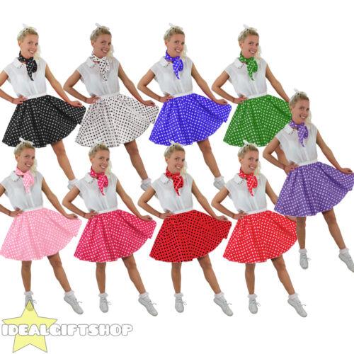 Tamaño Grande Falda corta Lunares Larga Vestido de fantasía Rock N Roll estándar 1960S