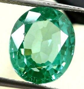 8.20 Ct Natural Green Sapphire Ceylon STUNNING Certified Oval Cut Gemstone