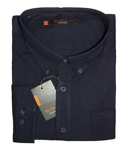 Ben Sherman New Men/'s Navy Shirt Embroidered Logo on Chest Pocket Big Sizes BNWT