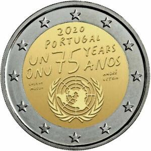 2-EURO-COMMEMORATIVE-2020-ONU-Portugal-Portogallo-Portugalia