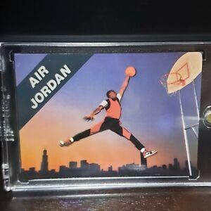 Banco barrer lado  1989-90 Tarjeta Promo Air Jordan Jordan Toros Nike el último Michael baile  icónicos | eBay