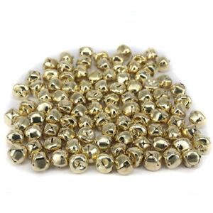 100x Bronze Jingle Bells Pendant Charms Findings Wind Chime for Crafts 8mm