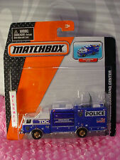 Matchbox E-ONE MOBILE COMMAND CENTER☆Blue/white☆STATE POLICE ☆Real Working Parts
