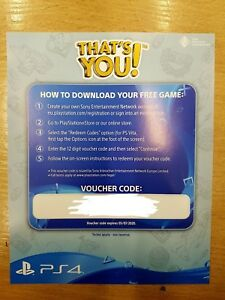 C'est Vous Playstation 4 Ps4 Game Code Only-afficher Le Titre D'origine Artisanat Exquis;