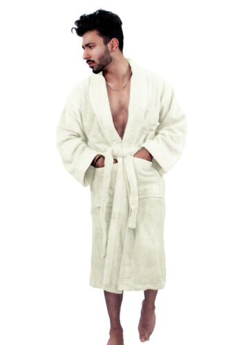 Mens /& Ladies 100/% Cotton Bathrobe Terry Towelling Shawl Dressing Gown Bath Robe