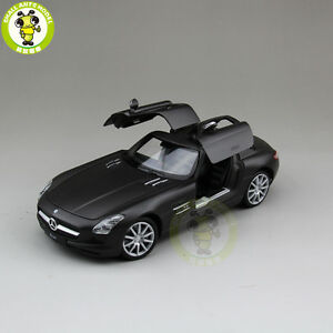 1-24-Benz-SLS-AMG-Welly-24025-diecast-model-car-Matte-Black