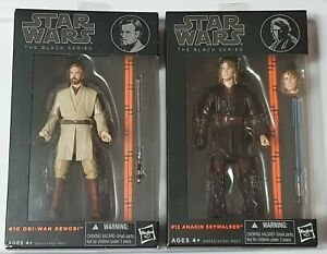 Star Wars Black Series 6 Set Obi Wan Kenobi 10 And Anakin Skywalker 12 Orange Ebay