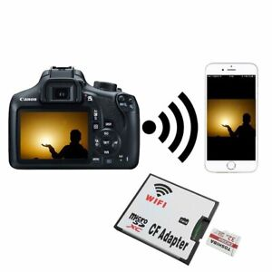 MicroSD Card TF to Wifi CF CompactFlash Memory Card adattatore per DSLR Camera