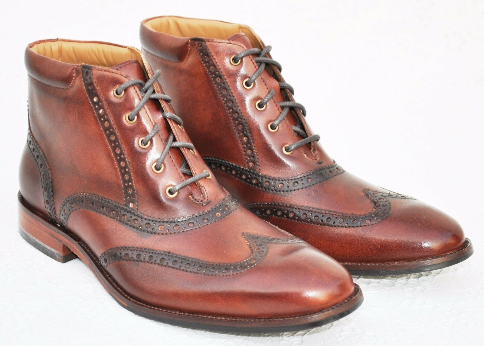 Cole Haan Men's Williams Wingtip Boot, Polisander color, Size 8 US, MSRP