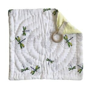 """Handmade BABY SECURITY BLANKET - DRAGONFLY Dragonflies 16"""" x 16"""" SOFT"""