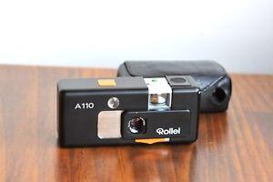 ROLLEI-A110-110-Film-subminiature-Camera-Zeiss-Tessar-23mm-Lens-w-Case