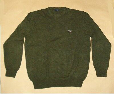 Diplomatico Gant Pullover Girocollo Da Uomo-camicia-pullover-large - Soft Agnelli Lana 100%-mostra Il Titolo Originale Qualità Eccellente