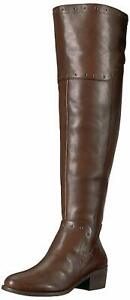 Vince-Camuto-Womens-Bestan-Almond-Toe-Over-Knee-Fashion-Boots-Brown-Size-8-0