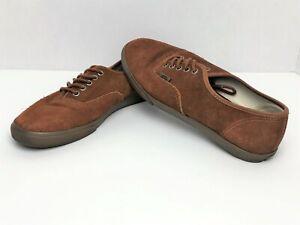 Détails sur Vans Old Skool en daim marron T375 Lacets Chaussures De Skate  Baskets Homme 7 Femme 8.5- afficher le titre d'origine