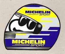 Michelin Sport, Bib Bibendum Helmet Sticker, Vintage Sports Car Racing Decal