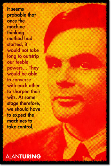 ALAN TURING ART QUOTE PRINT PHOTO POSTER GIFT MATHEMATICS CODEBREAKING SCIENCE