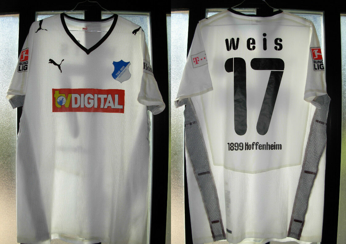 Maglia shirt hoffenheim tsg nr number 17 weis puma L match worn usata