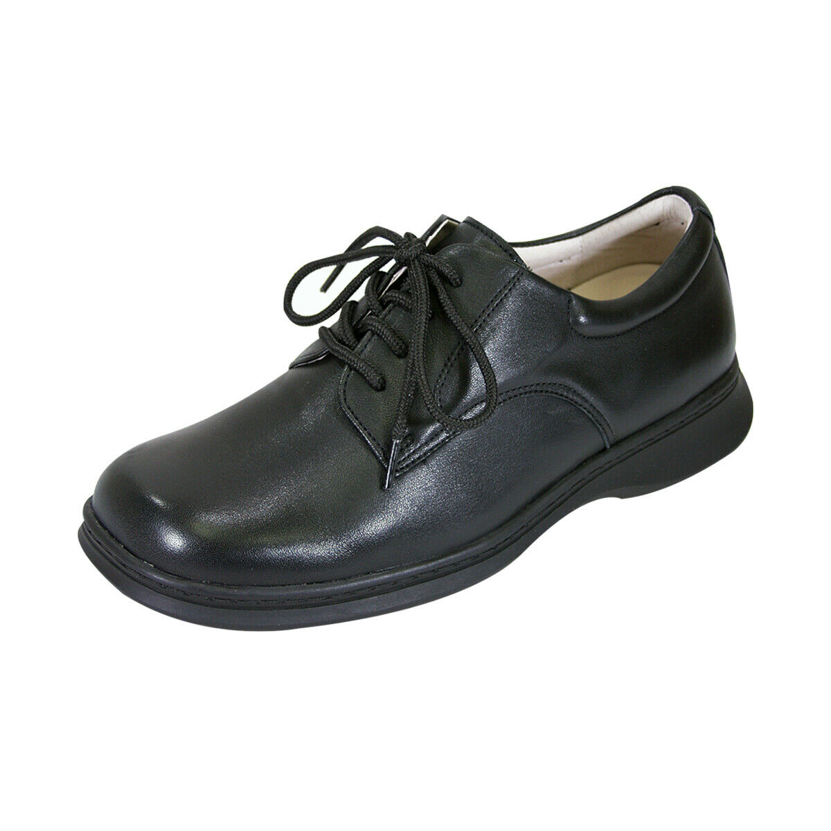 24 HOUR COMFORT Tim Men Wide Width Leather Lace Up Classic scarpe